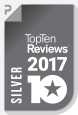TopTenReviews – Silver Award 2017
